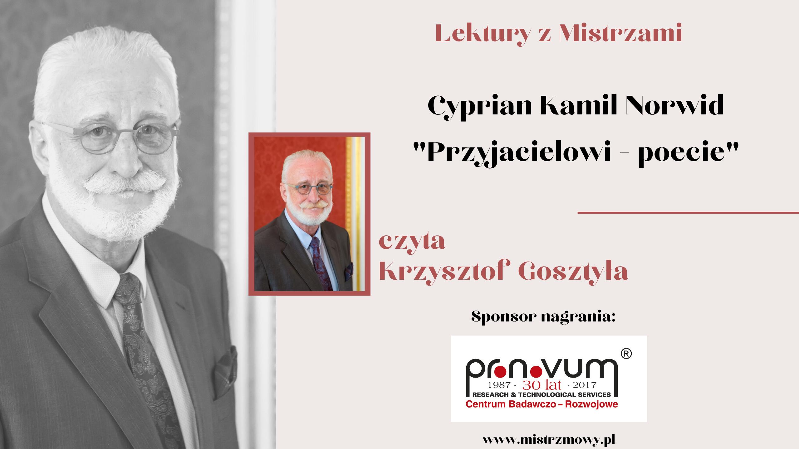 Cyprian Kamil Norwid - Przyjacielowi poecie