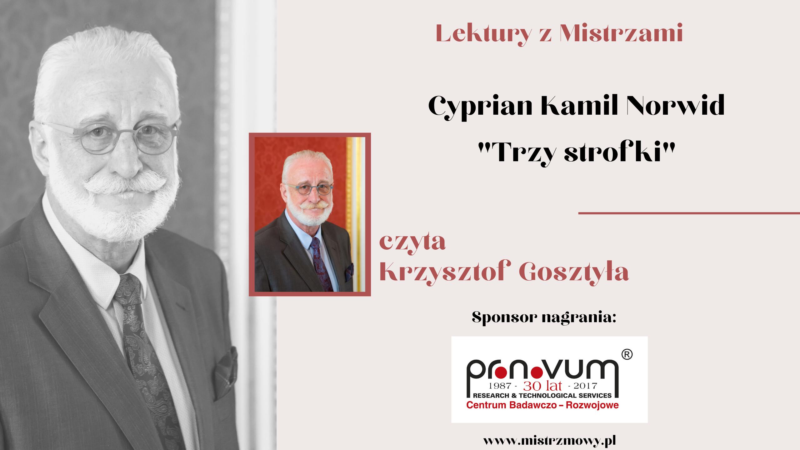 Cyprian Kamil Norwid - Trzy strofki